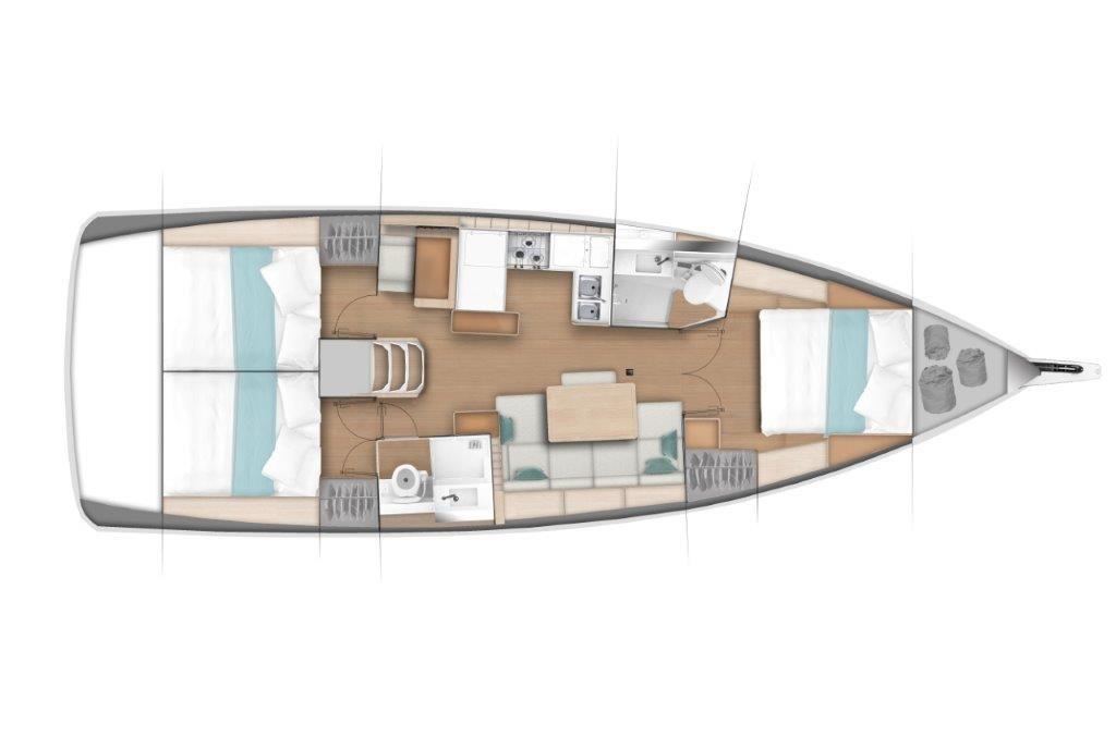 Sun-Odyssey-440---3-cabin_plan
