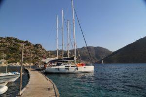 Perfect-Sailing-Serenity-Hanse-415-moored-Bozukale