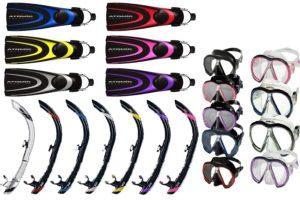 charter extras snorkels masks fins